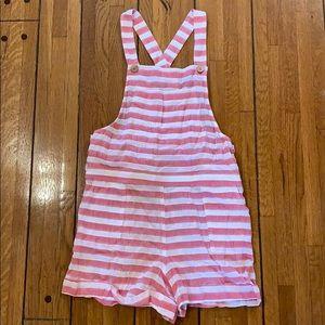 Show Me Your Mumu | RED Beachside Overalls Stripe
